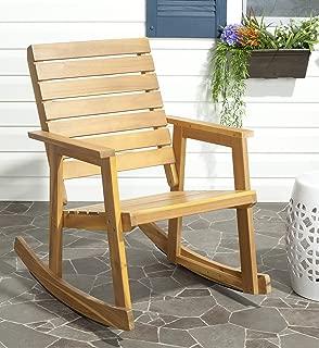 Safavieh Outdoor Collection Alexei Natural Brown Rocking Chair