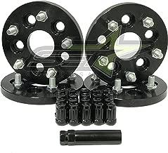 Supreme Engineering Technologies 5x100 to 5x114.3 Conversion Kit Works with FR-S Subaru BRZ WRX 12x1.25 Studs 15mm Thick + 20 Black Spline Lug Nuts