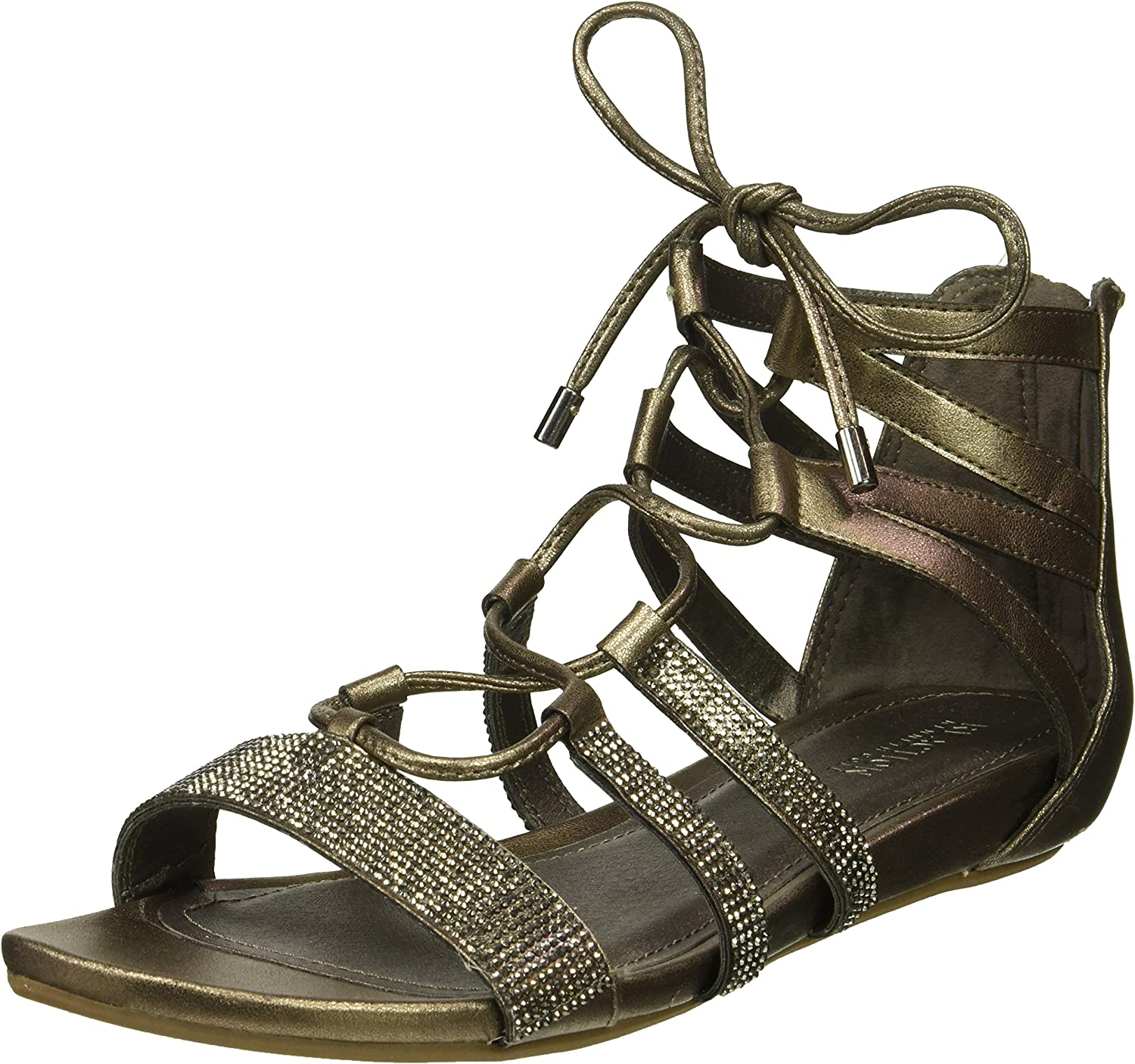 Kenneth Cole REACTION Womens 7 Lost Look Gladiator Laceup Sandal Sandal