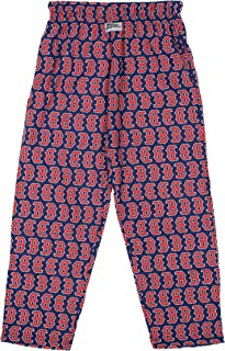 Zubaz MLB Mens Boston Red Sox Big Logo Print Lounge Pants, Medium