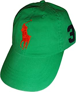 Polo Ralph Lauren Mens Neon Big Pony Baseball Hat, Performance Green, ...