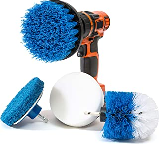 RevoClean RevoClean 4 Piece Scrub Brush Power Drill Attachments - All Purpose Time Saving Kit - Perfect for Cleaning Grout...