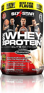 Sponsored Ad - Whey Protein Powder | Six Star Whey Protein Plus | Whey + BCAA + Creatine Monohydrate | Post Workout Muscle...