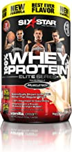 Six Star Pro Nutrition 100% Whey Protein Plus, 32g Ultra-Pure Whey Protein Powder, Vanilla, 2 Pound (Packaging may vary)