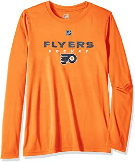 Outerstuff NHL NHL Philadelphia Flyers Youth Boys Hyper Long Sleeve Performance Tee, Orange, Youth Small(8)