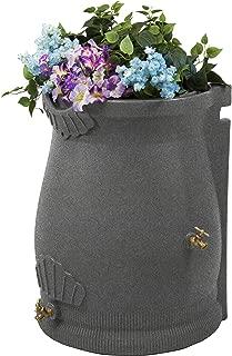 Good Ideas RWURN50-LIG Rain Wizard Rain Barrel Urn, 50 gallon, Light Granite