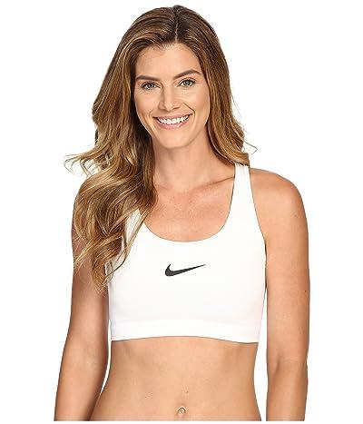 Nike Pro Classic Swooshtm Sports Bra (White/Black) Women