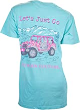 Southern Couture Comfort Fit Let's Just Go Adult T-Shirt Chalky Mint