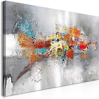 decomonkey Bilder Abstrakt 8x8 cm 8 Teilig Leinwandbilder Bild auf  Leinwand Vlies Wandbild Kunstdruck Wanddeko Wand Wohnzimmer Wanddekoration  Deko
