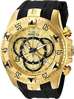Men's Excursion Quartz Watch with Silicone Strap, Black, 26 (Model: 24273)