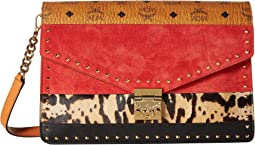 Patricia Leopard Combo Clutch Large
