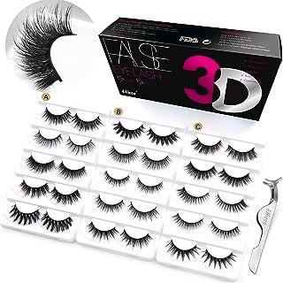 Eliace 3D Mink Lashes Natural Look 15 Mixed Styles 15 Pairs Fluffy False Eyelashes Bulk Wholesale Fake Lashes Pack Wispies...
