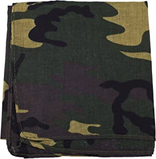 Lux Accessories Halloween Girls Fun Camo Army Green Paisley Print Hair Headwrap Headband Bandana