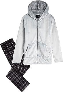 CityComfort Pijama Hombre, Pijama Hombre Invierno Forro Polar, Ropa de Dormir Super Suave, Pantalon y Sudadera con Capucha...