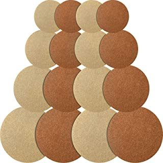 16 Pieces Reversible Round Plant Coaster Plant Mat Absorbent Table Board for Kitchen Hot Pads, Pots, Pans, DIY Craft Supplies, 4 Inch, 6 Inch, 8 Inch, 10 Inch (Wood-Colored, Light Brown)