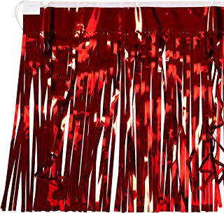 2-Ply FR Metallic Fringe Drape (red) Party Accessory  (1 count)