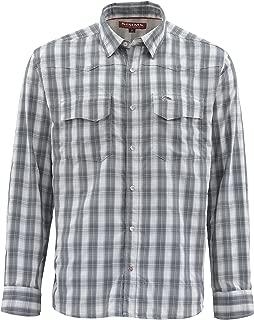 Big Sky Plaid Vented Fishing Shirt – Men's Long Sleeve 50+ UPF Shirt – Lightweight & Breathable, Moisture Wicking
