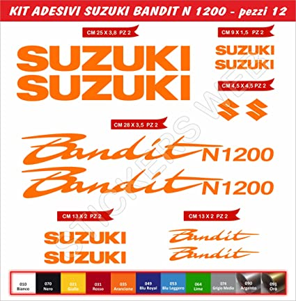 Moto Motorbike cod.78 Scegli Colore Pimastickerslab Adesivi Stickers Suzuki Bandit N600 N-600 Kit 12 Pezzi