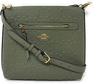 COACH WOMENS MAE CROSSBODY IN SIGNATURE LEATHER F77689 MILITARY GREEN/GOLD