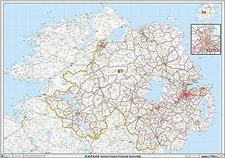 Postcode Wall Map 33.25 x 47 Laminated SK Stockport