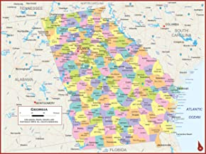 Best georgia map with counties and highways Reviews