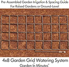 Garden In Minutes Garden Grid Watering System | Preassembled Drip Irrigation, Soaker Hose & Sprayer Style kit, in one | Square Foot Gardening, Raised Beds, Planters or Ground Level - 4x8 (44