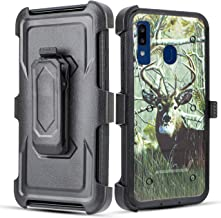 Galaxy A20 / A30 / A50 Case, 6goodeals Full Body with Built-in [Screen Protector] Heavy Duty Rugged Holster Armor Case [Belt Swivel Clip][Kickstand] for Samsung Galaxy A20 Case (Deer)