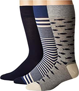Cole Haan - 3-Pack Fish/Skater Stripe Crew