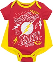 Justice League Baby Boys' Bodysuit and Cape Set- Batman, Superman & The Flash
