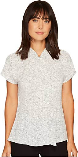 Vince Camuto - Elegant Speckle Twist Mock Blouse
