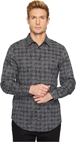 Perry Ellis - Regular Fit Scribble Check Dress Shirt