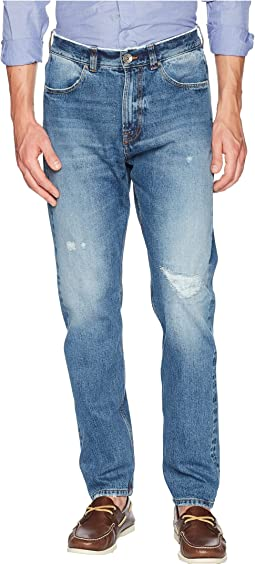 Five-Button Baggy Jeans in Denim