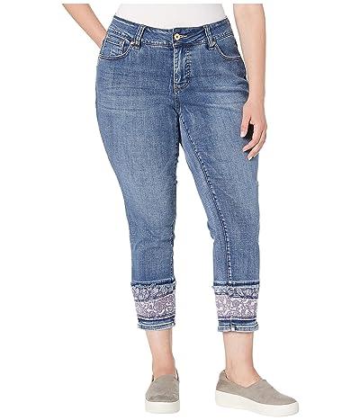 Jag Jeans Plus Size Plus Size Carter Girlfriend Jeans w/ Layered Hem in Mid Vintage (Mid Vintage) Women
