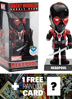 Marvel Deadpool (f.y.e. Exclusive) Universe x Wacky Wobblers Series + 1 Free Official Trading Card Bundle (77563)