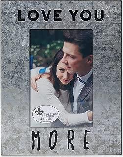 Lawrence Frames 4x6 Cooper Galvanized-Love, Silver