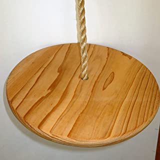 Tree Swing Cypress Wood Disc Tree Swing and 10 Feet of Rope Not Plywood