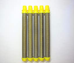 Titan/Wagner/Spraytech Spray Gun Filter Replacement - Unthreaded Fine (Yellow, 100 Mesh) 581-062 or 581062 by RG WIRE MESH (5 Pack)