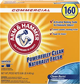 Arm & Hammer 33200-00109 Powder Laundry Detergent, Clean Burst, 9.86 lb. (Pack of 3)