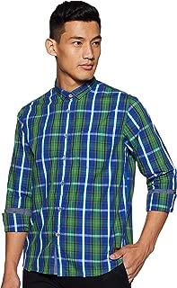 CHEROKEE Men's Checkered Regular fit Casual Shirt (400017288093_Green 2XL)