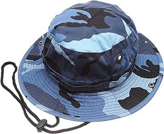 Summer Outdoor Boonie Hunting Fishing Safari Bucket Sun Hat with Adjustable Strap