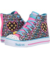 SKECHERS KIDS Twinkle Toes – Shuffles 10830L Lights (Little Kid/Big Kid)