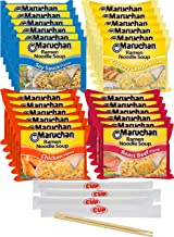 By The Cup Chop Sticks and Soup Variety, 4 Flavor Assortment, 3 Ounce Single Serving Packs Maruchan Ramen Noodle Soup, 6 o...