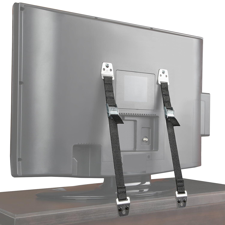 Jambini Metal Furniture / TV Safety Straps - TV Anti Tip Straps - Earthquake Straps (2 Pack)