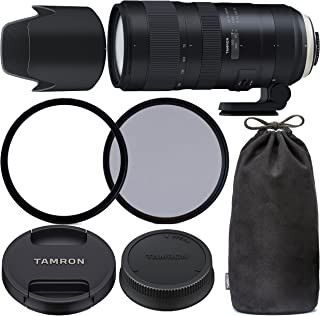 TamronSP 70-200mm f/2.8 Di VC USD G2 Lens for Nikon F with 77mm Ultraviolet (UV) Filter, 77mm Polarizing (C-PL) Filter, T...