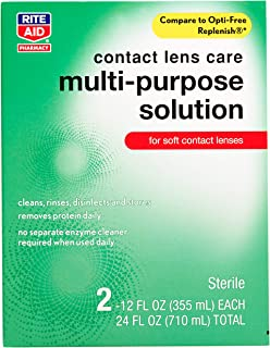 Rite Aid Multi-Purpose Contact Lens Solution, 12 Ounce - 2 Pack | Eye Contact Solution