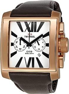 TW Steel Men's CE3009 CEO Goliath White Dial Watch
