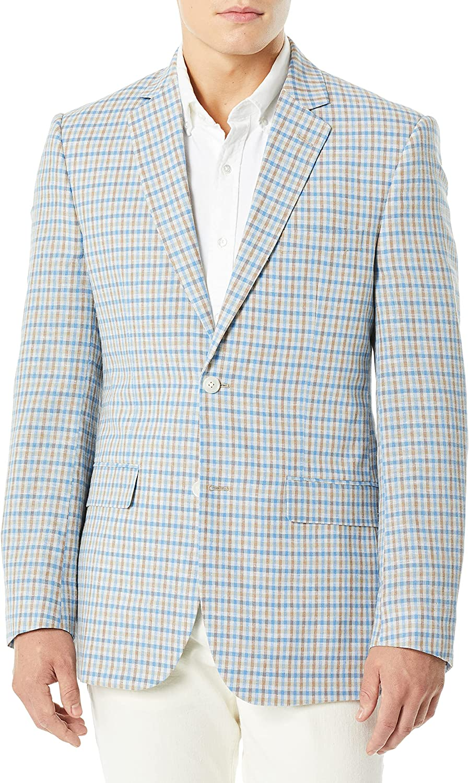 Jones New York Men's 2 Button Blazer with Notch Lapel
