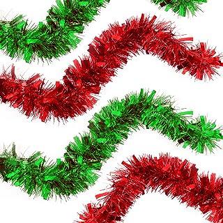 KEYkey Prodotto Decorativo 1 Albero di Natale Rosso Tinsel 9cmx2m By per la casa
