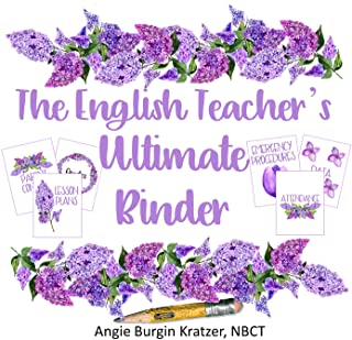The English Teacher`s Ultimate Binder (High School Lilac Watercolor FULLY EDITABLE)