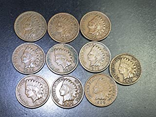 1890 1891 1892 1893 1894 1895 1896 1897 1898 1899 Complete Decade U.S. Indian Head Cents - 10 coins Penny All Better Grades With Full LIBERTY